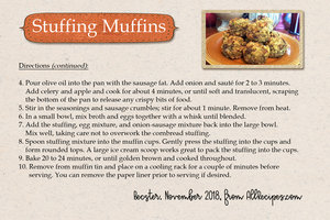 Stuffing Muffins, back of card