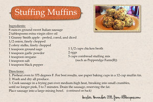 Stuffing Muffins, front of card