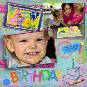 Laura's First Birthday Party