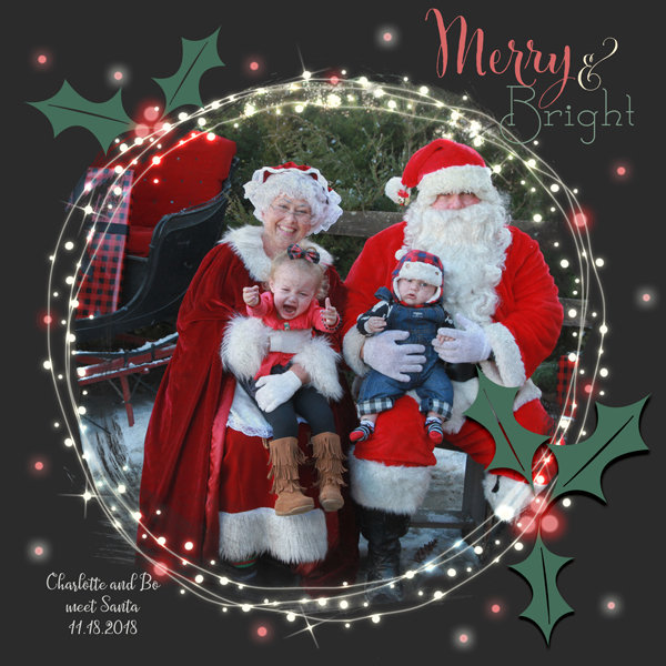 Charlotte and Bo meet Santa