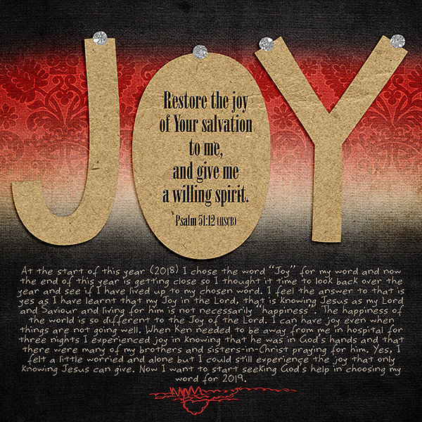 Joy - my word for 2018