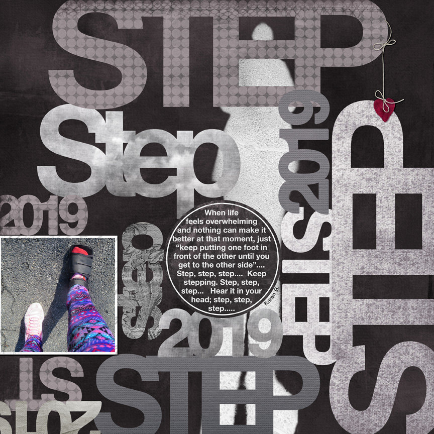 Tuesday Challenge 1/1/19 One Word: Step