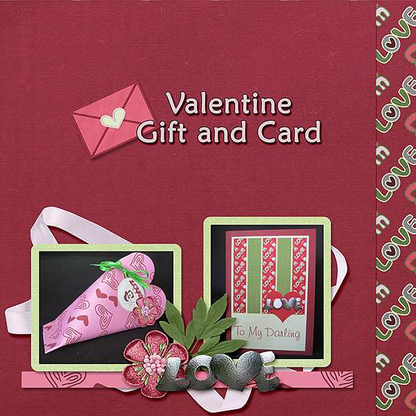 January #3 Challenge - Template - Valentine gift and card