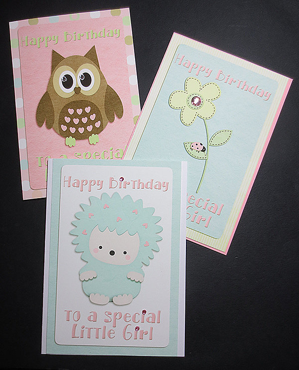 Greeting Cards for Little Girls using Fresh Start kit