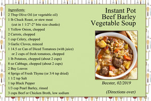 Instant Pot Beef Barley Vegetable Soup (front)