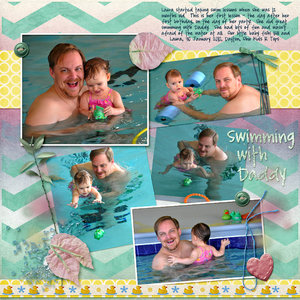 March Madness Week 1 - Swimming with Daddy