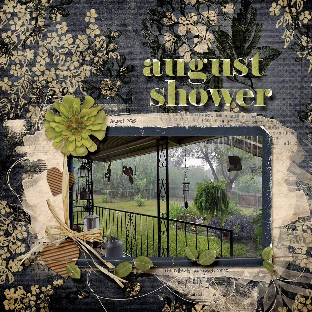 Newsletter Challenge 9 April: August Shower