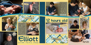 Elliott - 12 hours old
