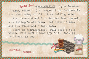 April 2019 SG Recipe Swap: Breakfast - Auntie Sue's Bran Muffins