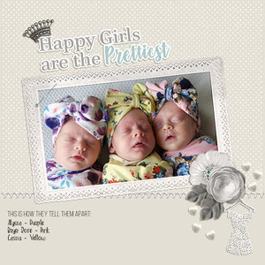 Triplets 1 month