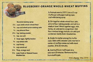 May 2019 SG Recipe Swap: Fruit - Blueberry Orange Whole Wheat Muffins