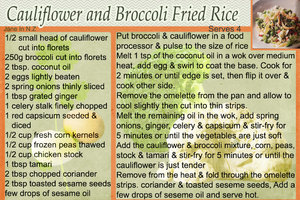 cauliflowe & brocolli fried rice