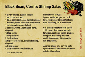 Black Bean, Corn & Shrimp Salad