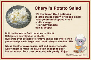 July 2019 SG Recipe Swap: Outdoors - Cheryl's Potato Salad