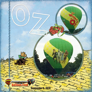 Weekend Challenge 9/14/19: Alpha - Oz Hot Air Balloon