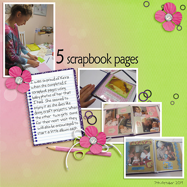 #21 - Number - 5 Scrapbook Pages