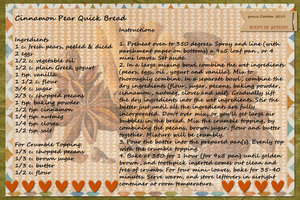 goosie_Cinnamon Pear Quick Bread