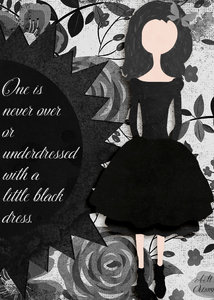 October ATC - Little Black Dress