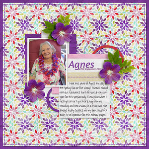 Weekend Challenge - Purple - Agnes