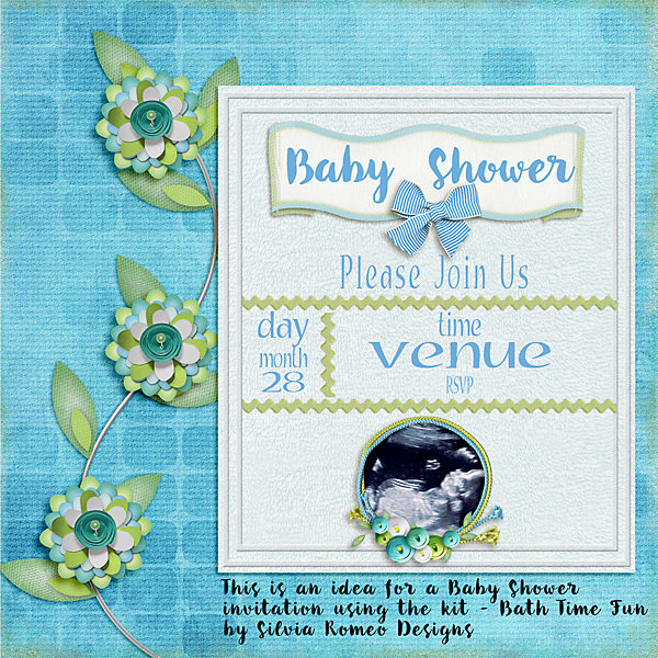 Idea for a Baby Shower Invitation