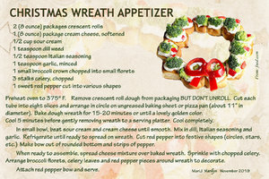 Nov 2019 Recipe Swap Holiday - Wreath Appetizer
