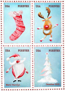 Dec 2019 ATC Stamps: Christmas