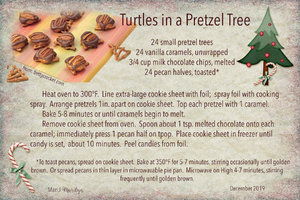 2019 SG Cookie Swap: Turtles in a Pretzel Tree