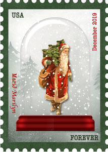 Dec 2019 ATC Stamp: Snow Globe