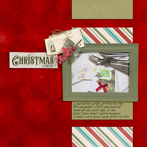 December to Remember Week 2 - Christmas Cards
