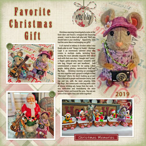 Jan 2020 Monthly Challenge #2 Christmas Memory Merry Mouse