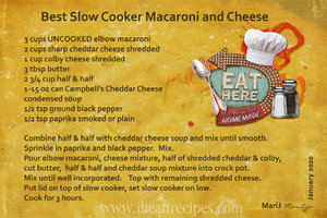 Jan 2020 SG Recipe Swap Slow Cooker Macaroni and Cheese
