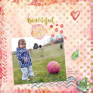Jumpstart January LO #2:  Beautiful You Are