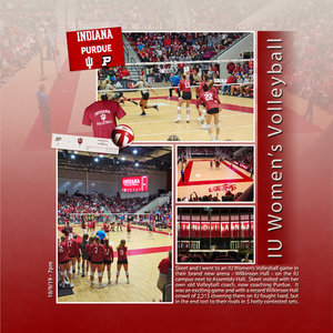 Project Life 2020 IN Book IU Volleyball