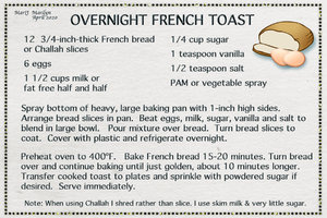 "March 2020 SG Recipe Swap ""Overnight French Toast"