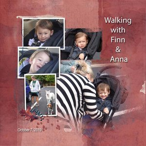 Project Life 2020 April IN Book Walking with Finn & Anna