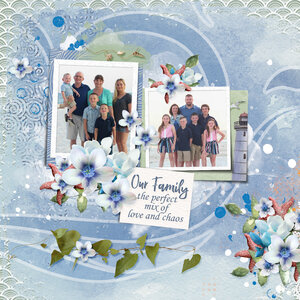 Featuring: You and Me template, Kit: Sea World