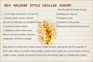 New Orleans Style Grilled Shrimp 1