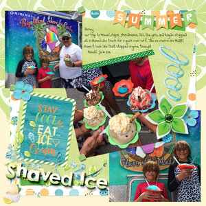 Shave Ice - Cool Summer by Heartmade Scrapbook