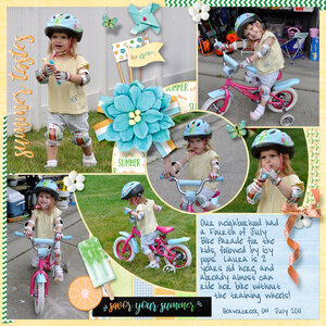 Bike Parade: Cool Summer by Heartmade Scrapbook