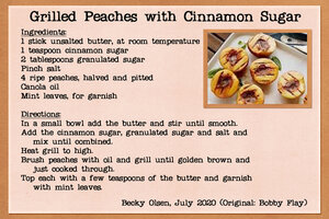 Grilled Peaches with Cinnamon Sugar
