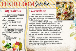 Heirloom Garlic Pasta