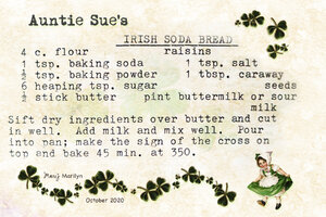 Oct 2020 Recipe Swap Auntie Sue's Irish Soda Bread