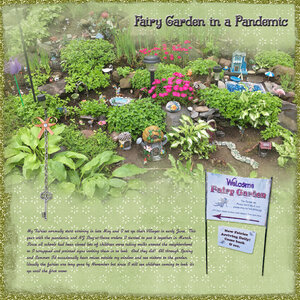 PL 2020 Covid Book:  Fairy Garden in a Pandemic