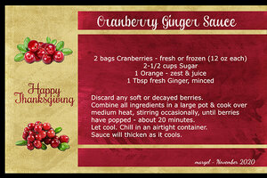 CRANBERRY GINGER SAUCE