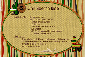 Jan 21 SG Recipe Swap: Soups - Mom's Chili Beef 'n Rice