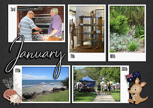 Project Life 2021 - January - Photo page