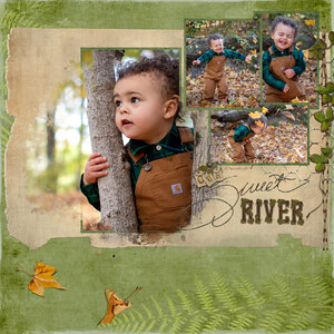 River 2 of 2 page spread Fall Photo Shoot 2020