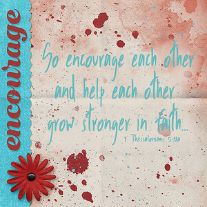 January Monthly #2 - Word of the Year - Encourage
