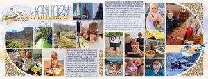 Project Life_January pg. 2&3