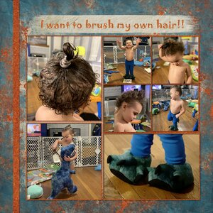 I want to brush my own hair! 1